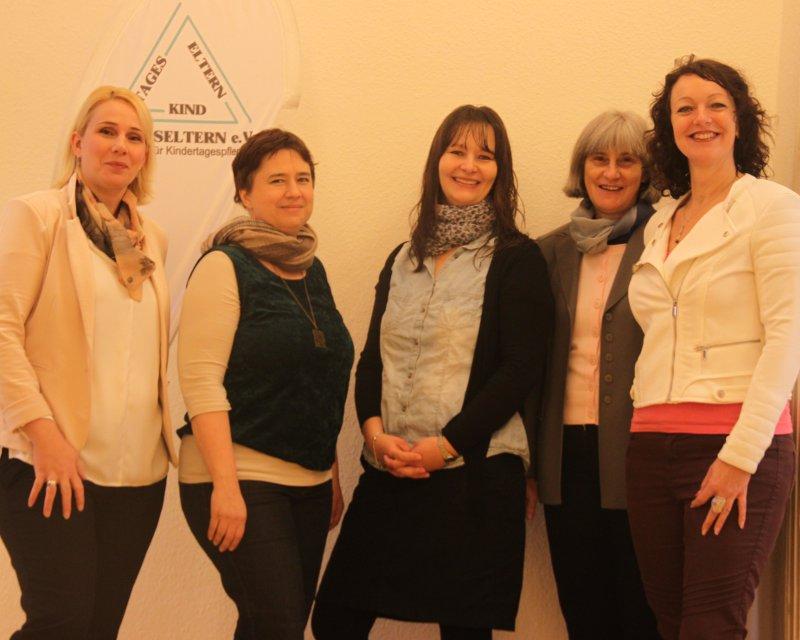 1. Vorsitzende Nicole Heins, 2. Schriftführer Stephanie Marzi, 2. Vorsitzende Raika Oettle-Baumgärtel, 1. Schriftführer Petra Nickel, Kassenwartin Silvia Bertelsmann